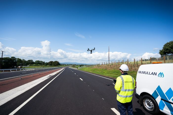 Drone Survey of Completed Section of A6 Randalstown to Castledawson